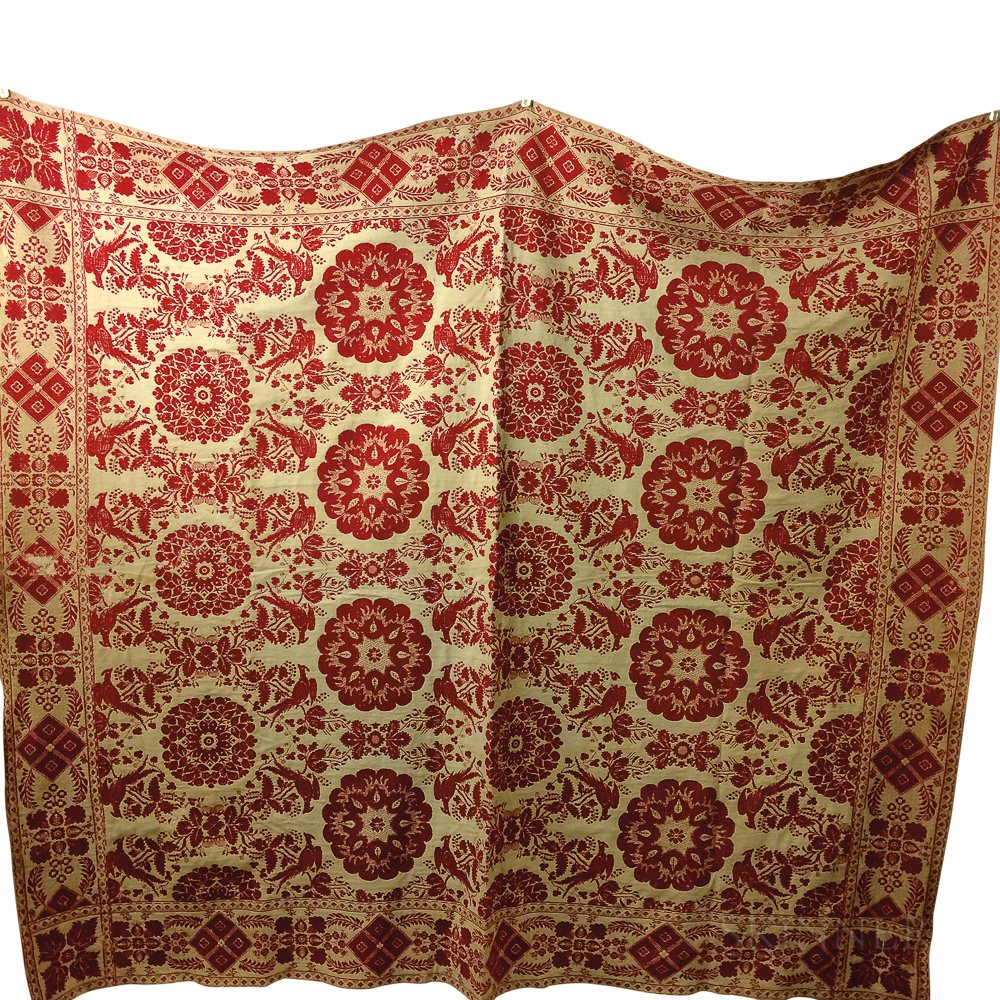 Two Woven Coverlets.     Estimate $200-300