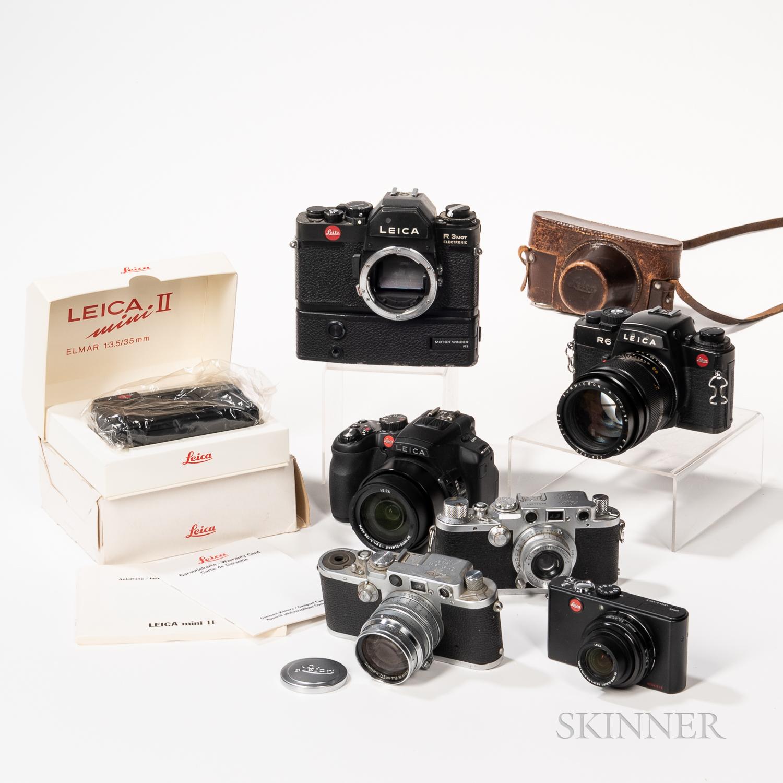 Seven Leica Cameras