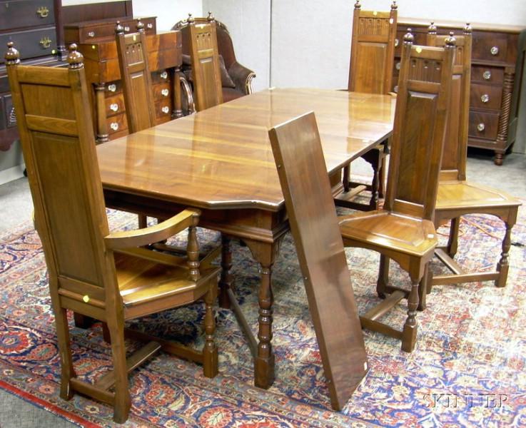 Eight-piece William & Mary Style Walnut Dining Group