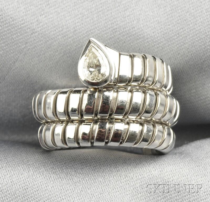 18kt White Gold and Diamond Ring, Bulgari
