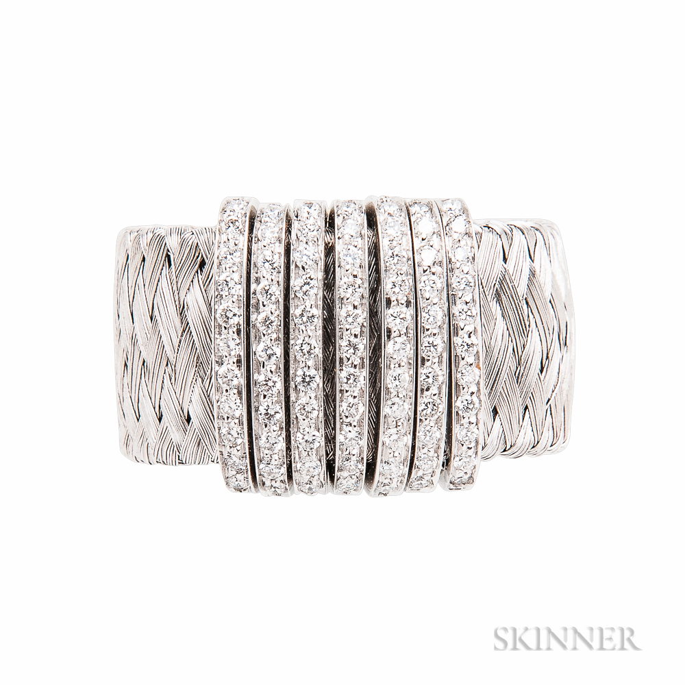 18kt White Gold and Diamond Ring, Roberto Coin