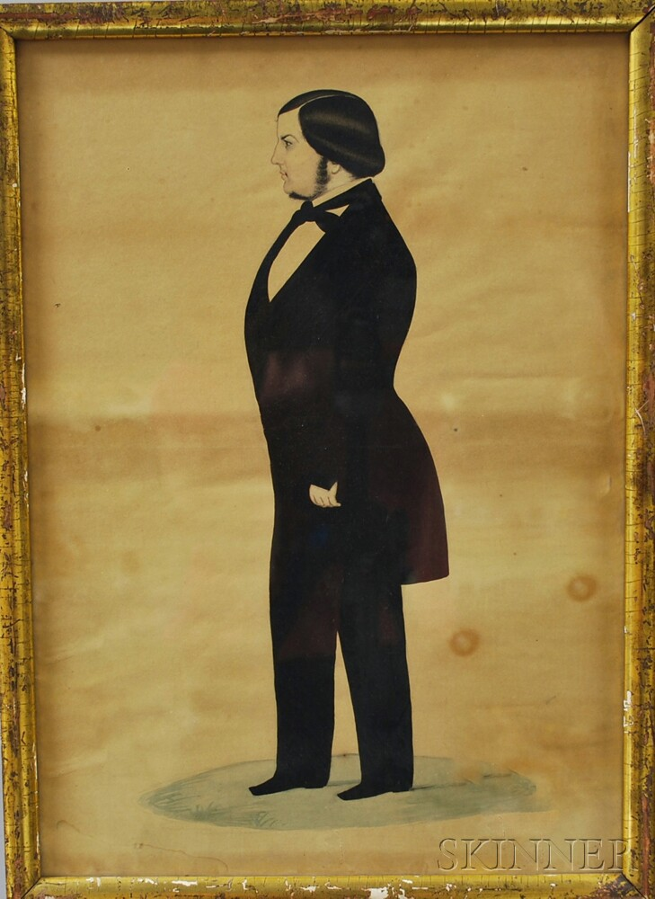 American School, 19th Century      Portrait of a New England Gentleman
