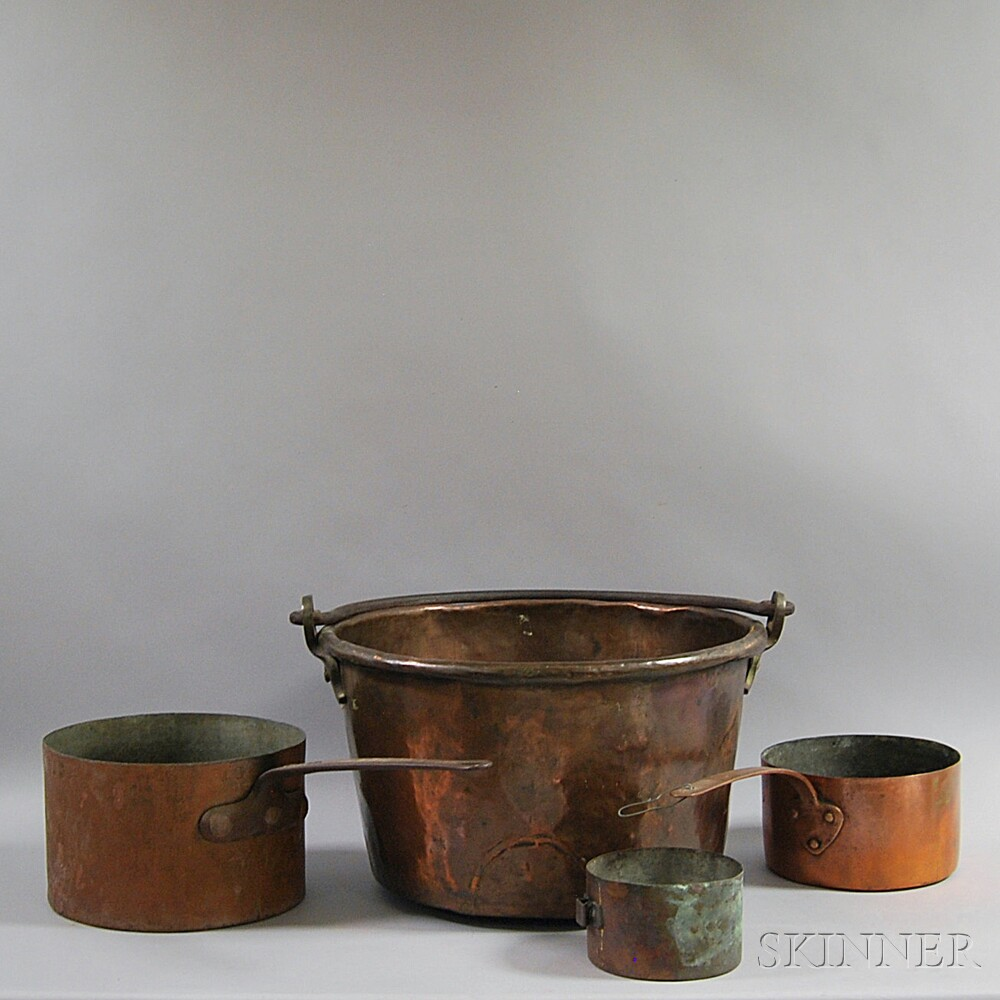 Four Copper Cooking Vessels
