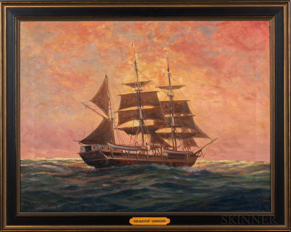 C. Myron Clark (Massachusetts, 1858-1925)      The Whaleship Wanderer
