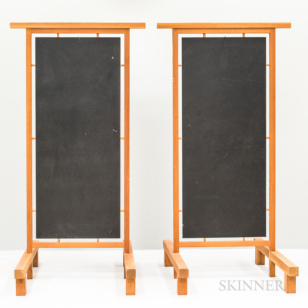Pair of Japanese-style Wooden Screens