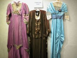Five Edwardian Lady's Embroidered and Embellished Gowns.