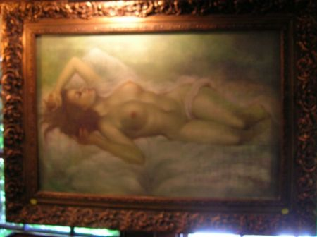 Framed Oil on Canvas of a Reclining Nude