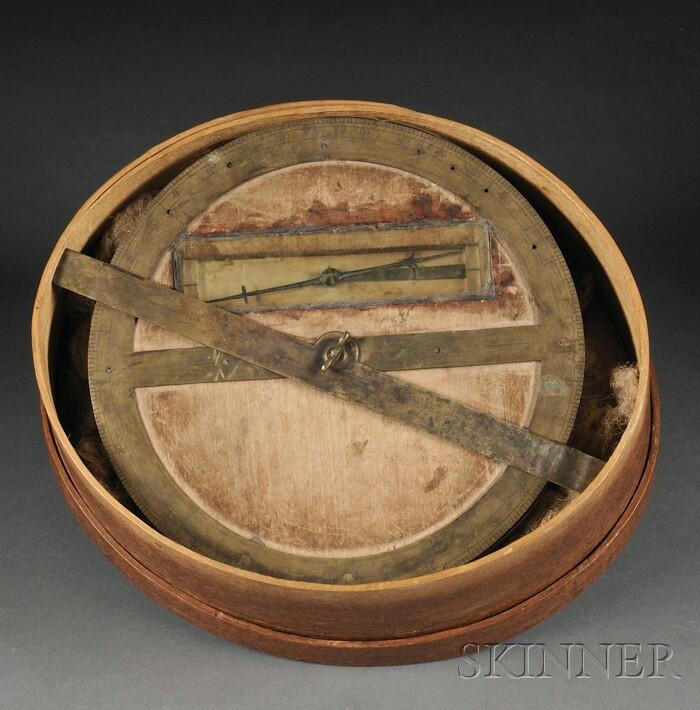 Brass and Wood Circumferentor