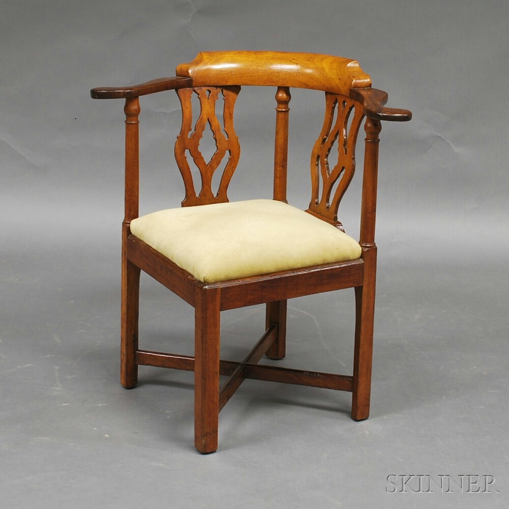 Chippendale Mahogany Roundabout Chair