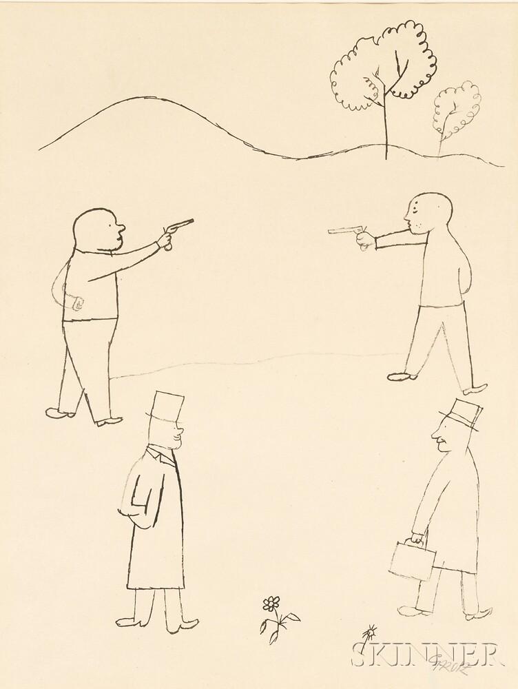 George Grosz (German/American, 1893-1959)      Duel