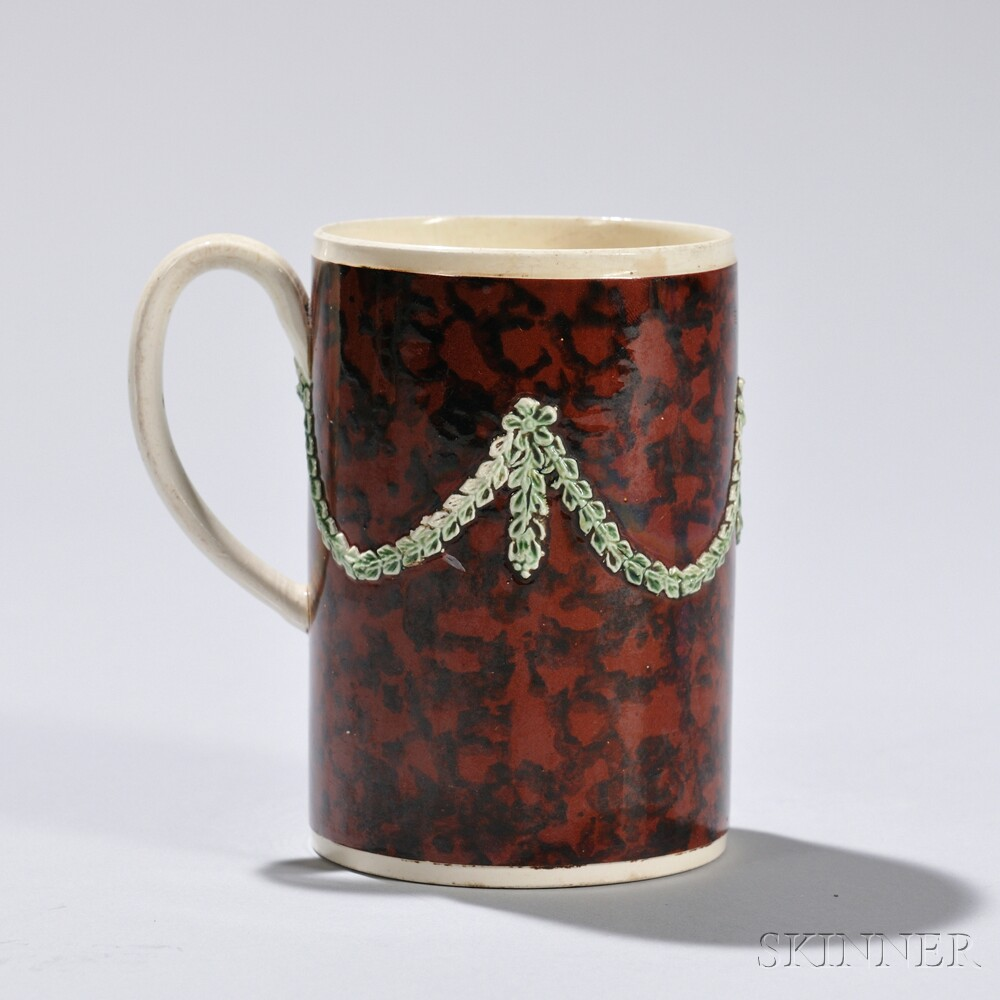 Mocha-decorated Creamware Pint Mug