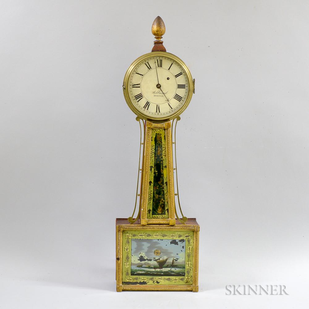 Mahogany and Gilt-gesso Patent Timepiece