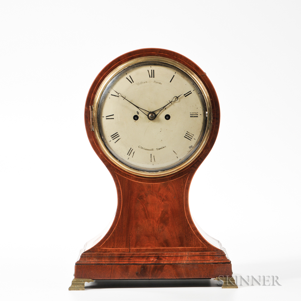 William Moore Mahogany Shelf Clock
