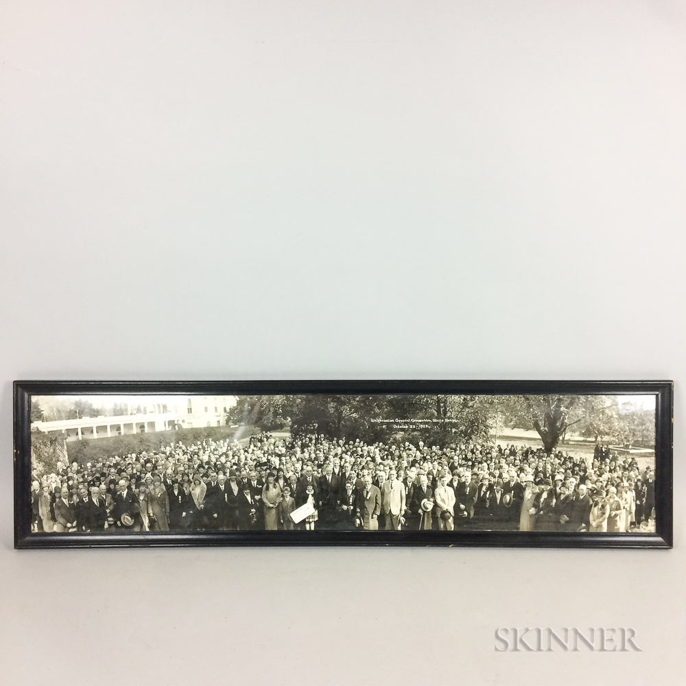 Framed Panoramic Photograph of President Hoover and the Universalist General Convention