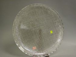 Pairpoint Round Colorless Brilliant Cut Glass Charger.
