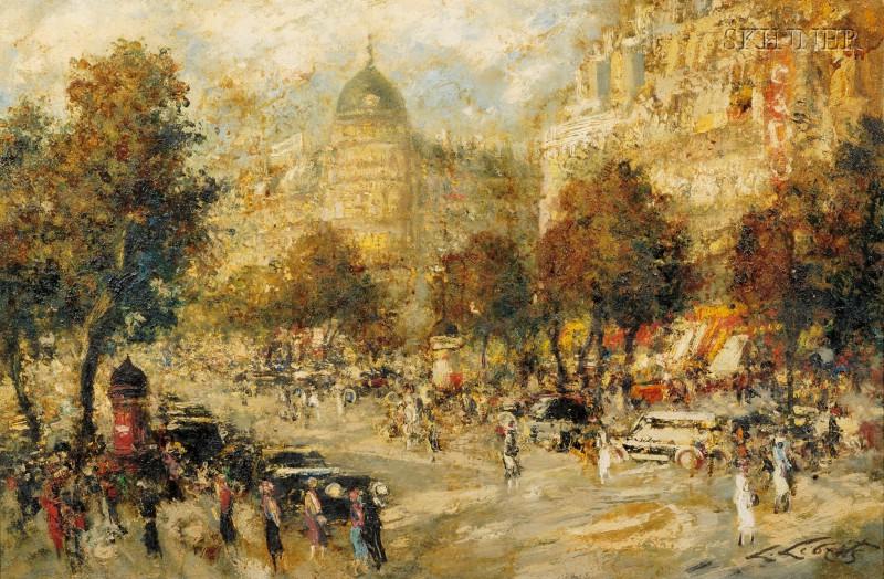 Ludolfs Liberts (Latvian/American, 1895-1959)      Parisian Street