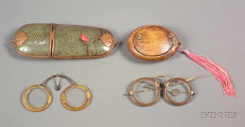 Two Pair of Chinese Spectacles in CasesTwo Pair of Chinese Spectacles in Cases