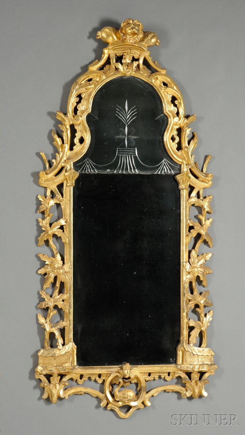 Chinoiserie Giltwood Mirror