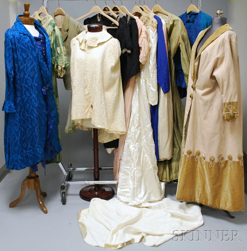 Assorted Group of Antique and Vintage Clothing