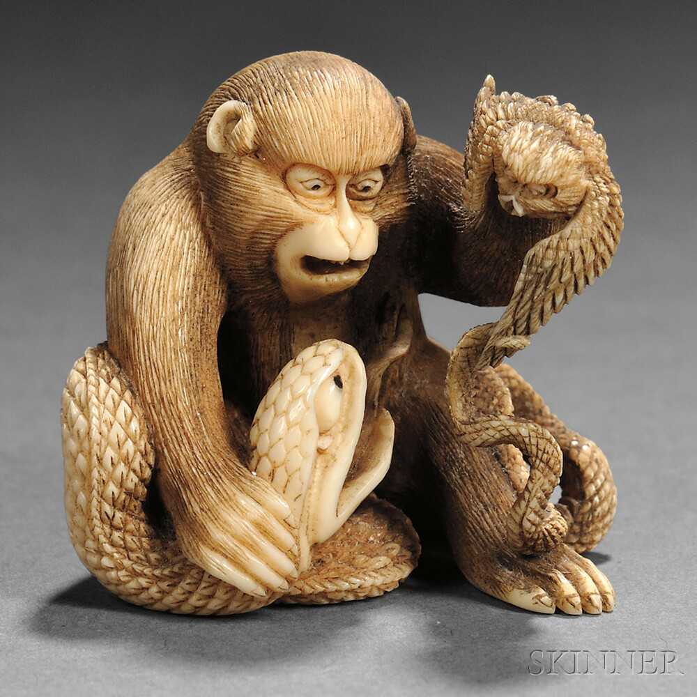 Ivory Carving of a Monkey