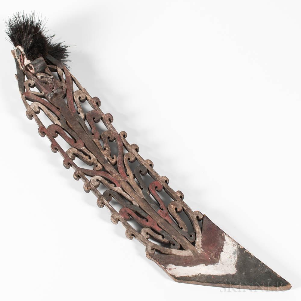 Korwar Canoe Prow Ornament
