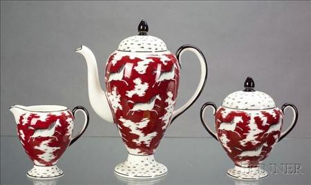 Three Piece Wedgwood Bone China Persian Ponies Coffee Set