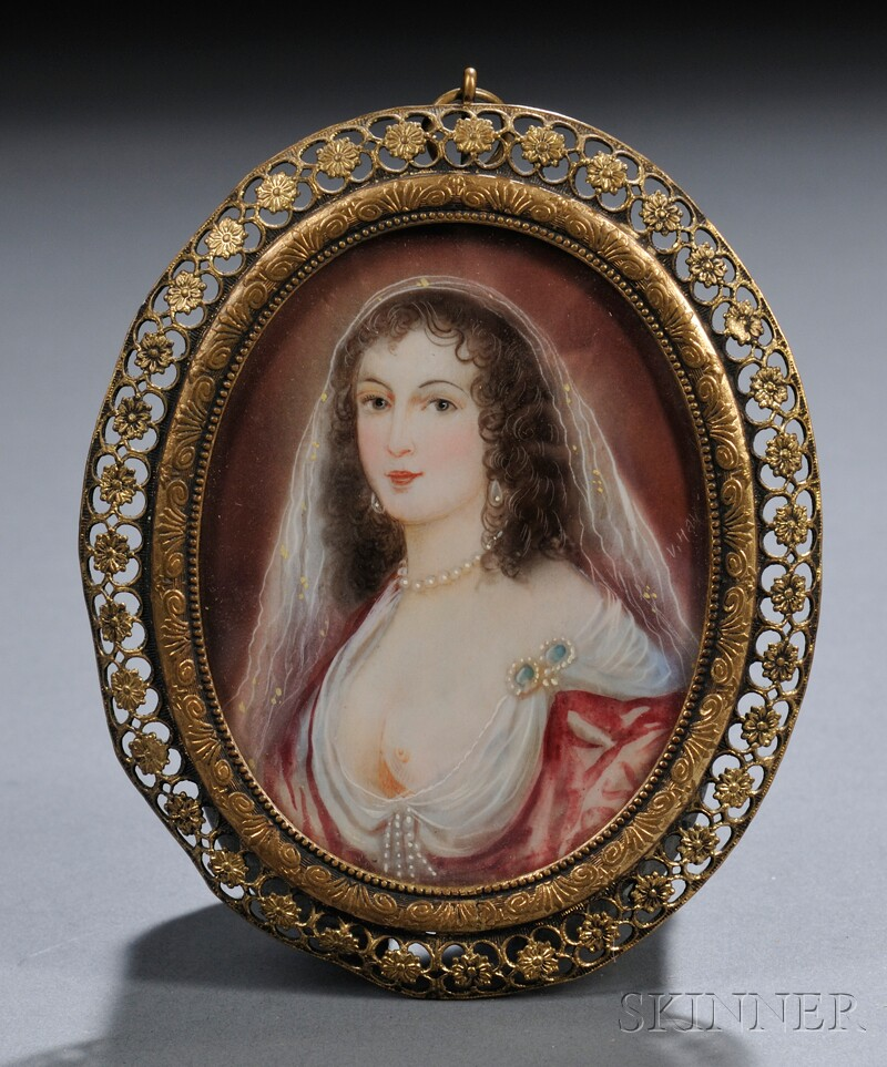 Miniature Portrait on Ivory
