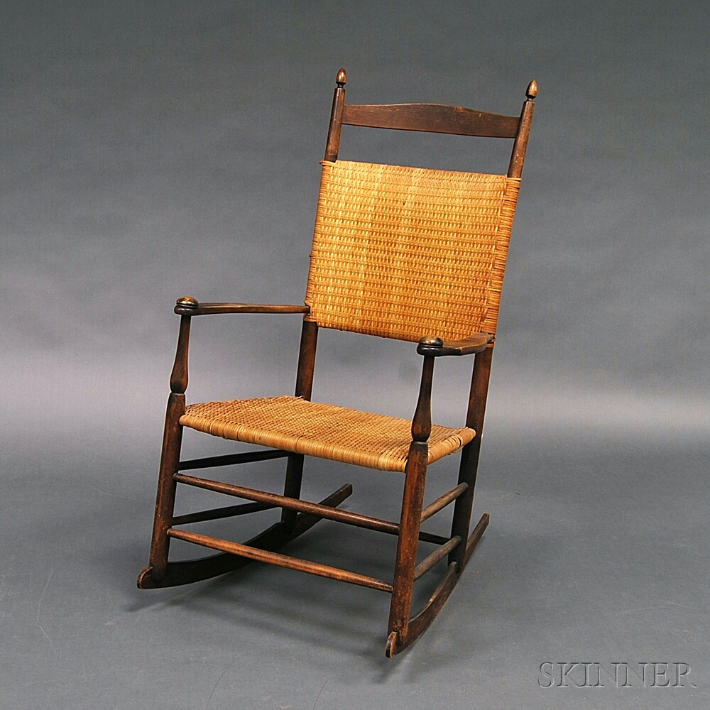 """Shaker """"6"""" Production Armed Rocking Chair"""