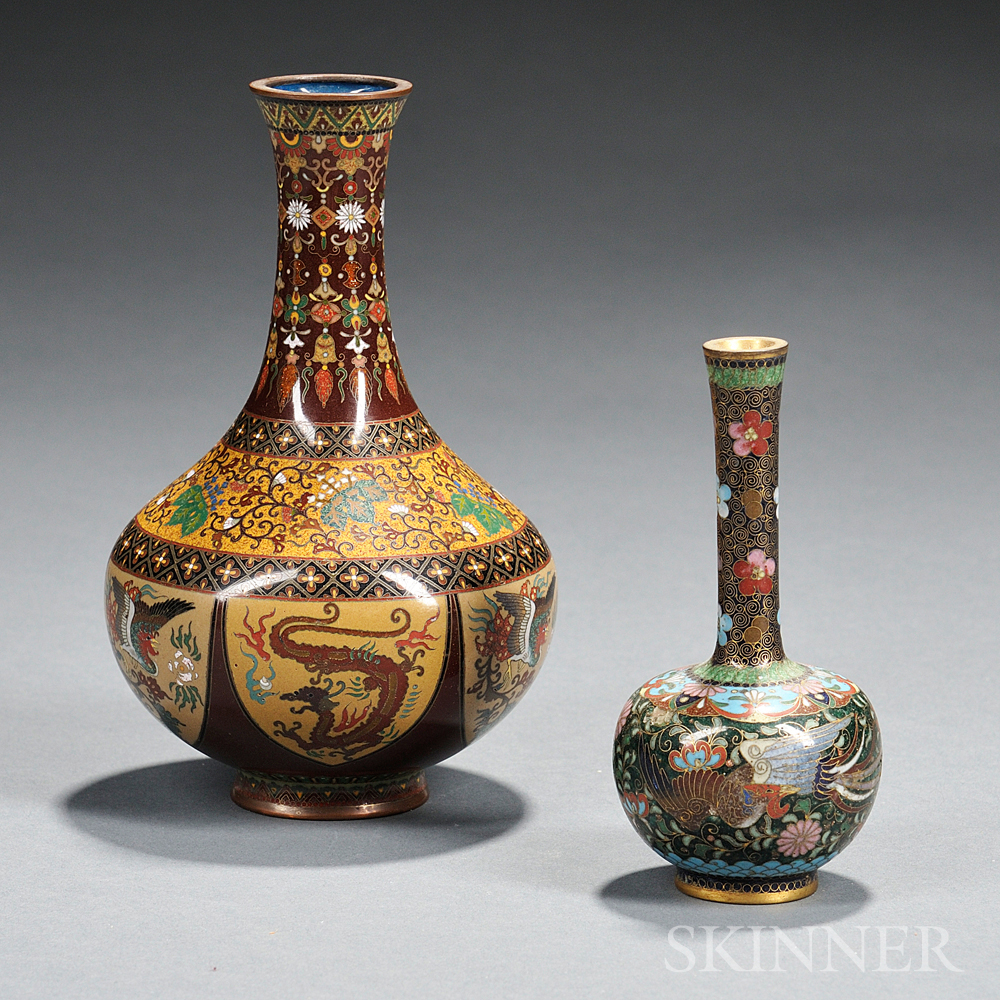 Two Small Cloisonne Vases