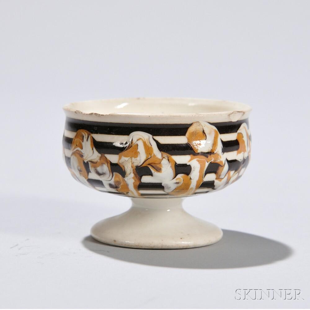 Mocha-decorated Pearlware Salt Cellar