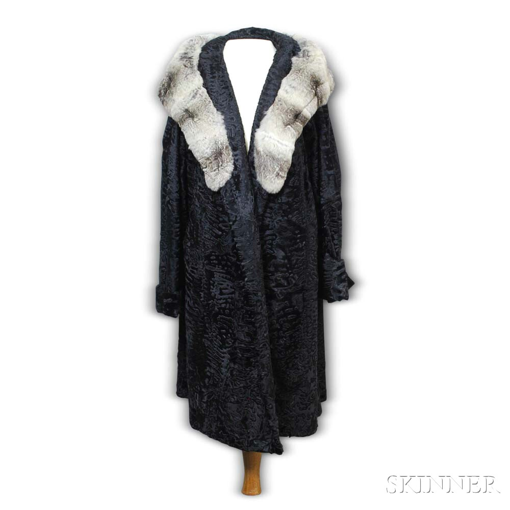 Razook's Cut Persian Lamb and Chinchilla Coat