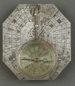 Silver Butterfield Sundial