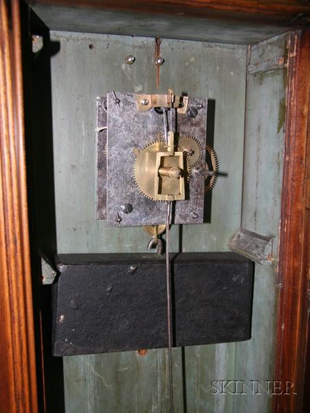 Birch and Mahogany Dwarf Clock by John Taber