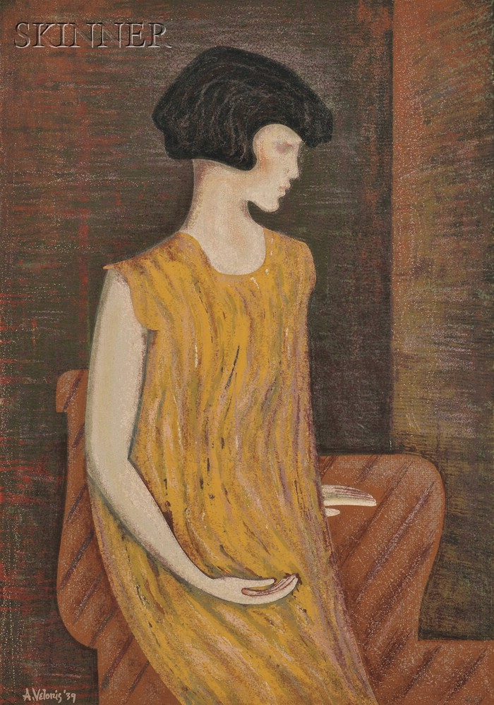 Anthony Velonis (American, b. 1911)      Young Girl