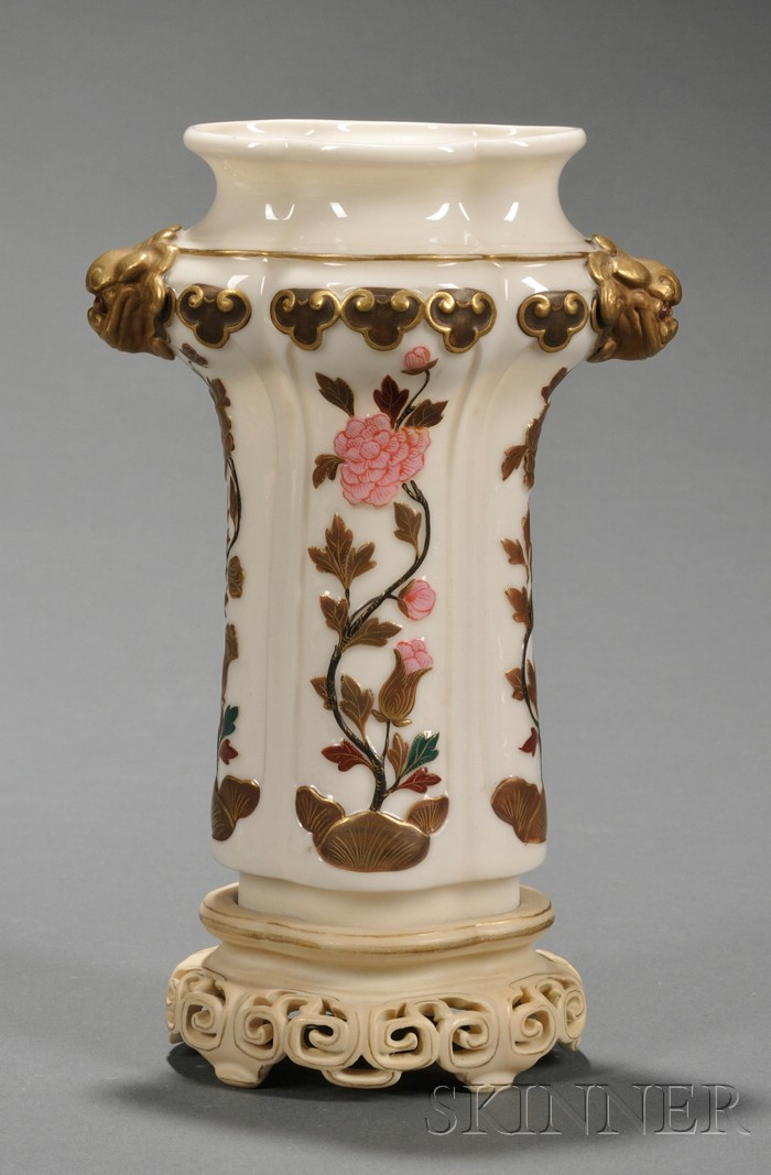Royal Worcester Porcelain Japanese-style Vase