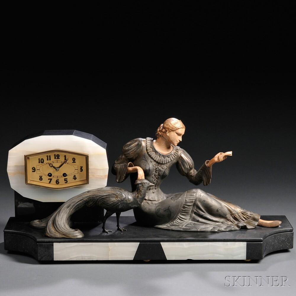 Art Deco Figural Desk Clock