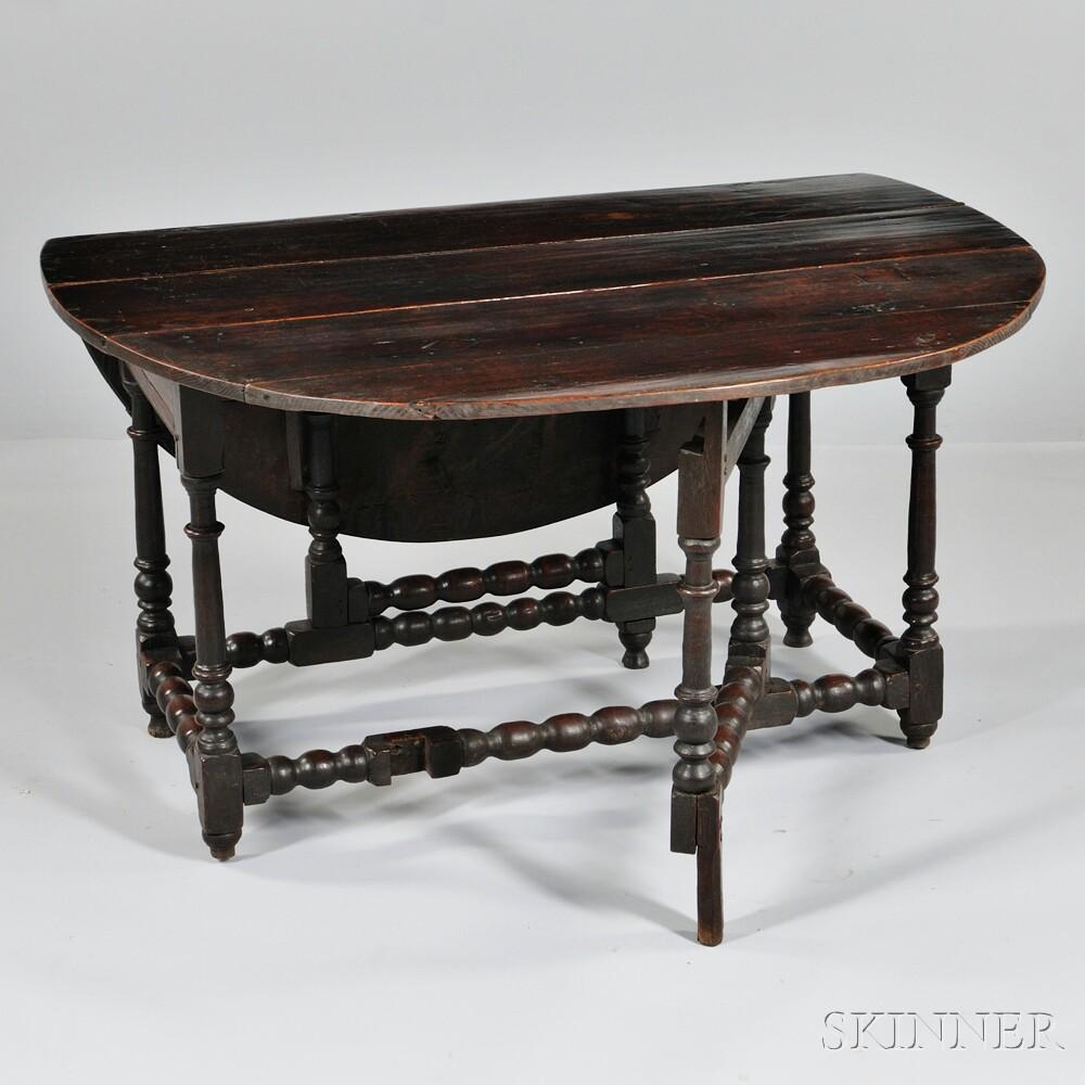 English Oak Gate-leg Table