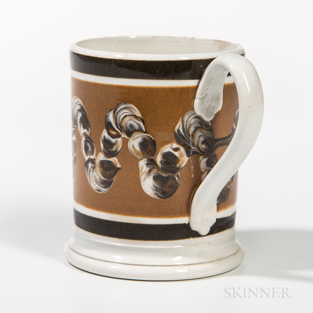 Slip-decorated Pearlware Half-pint Mug