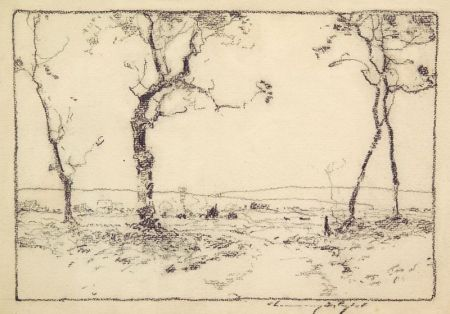 Chauncey Foster Ryder (American, 1868-1949)    Landscape Sketch