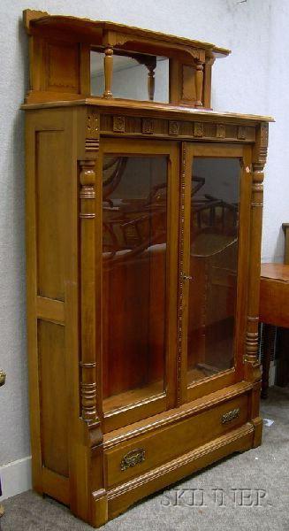 Victorian Cherry Two-Door Bookcase