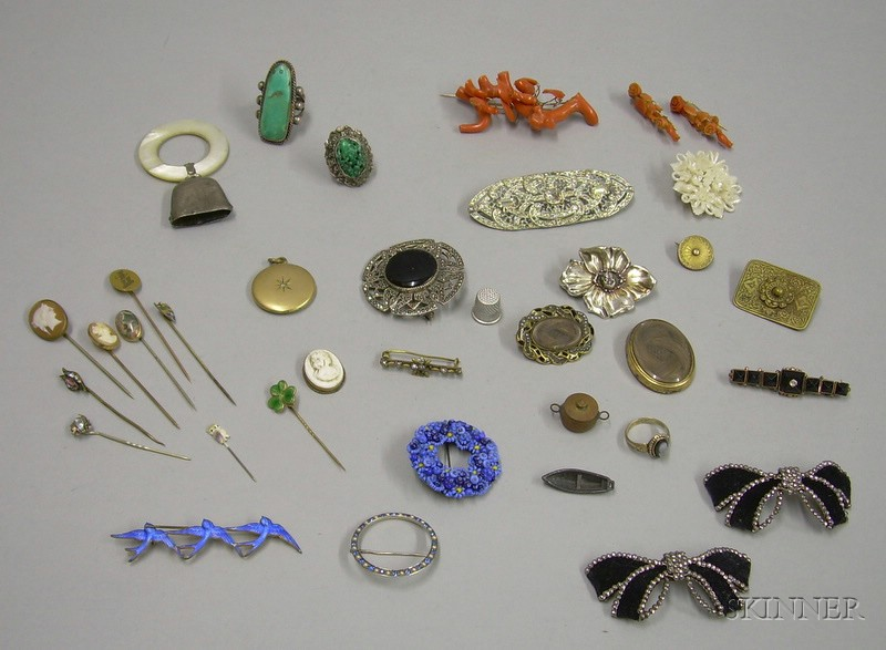 Group of Assorted Victorian and Later Costume and Other Jewelry
