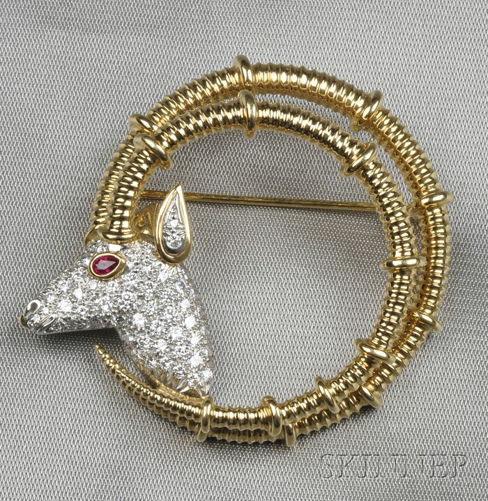 "Diamond ""Ibex"" Brooch, Schlumberger, Tiffany & Co."