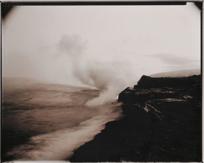 Linda Connor (American, b. 1944)      Lot of Two Images of Hawaii:  Lava Entering the Ocean, Hawaii