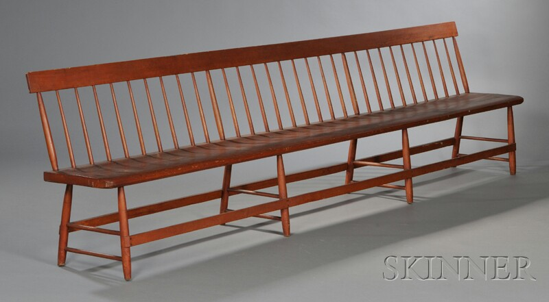 Shaker Red-washed Bench