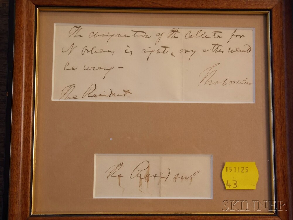 Autograph Collection, Twenty-five Frames: | Sale Number 2687B, Lot ...