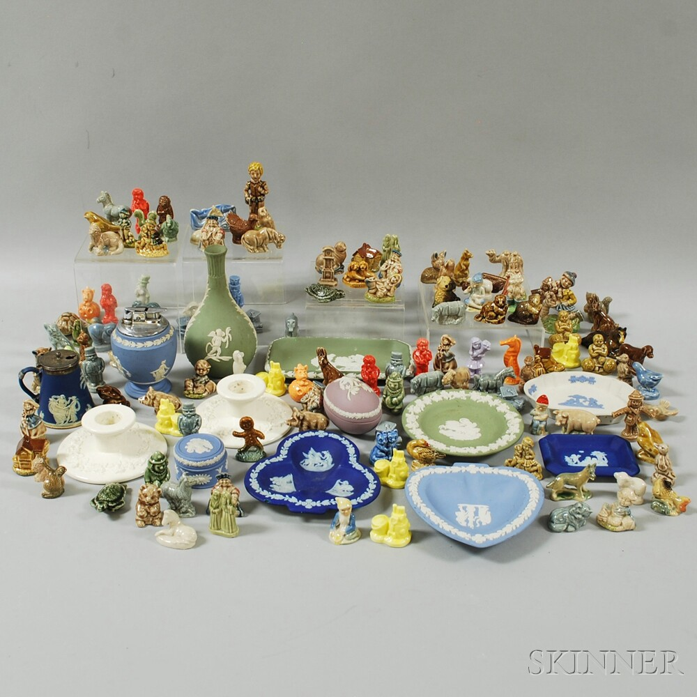 Group of Wedgwood Table Articles and Wade-type Ceramic Figures