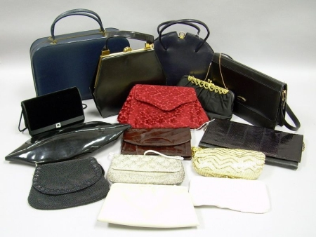 Fifteen Assorted Vintage to Modern Purses and Evening Bags