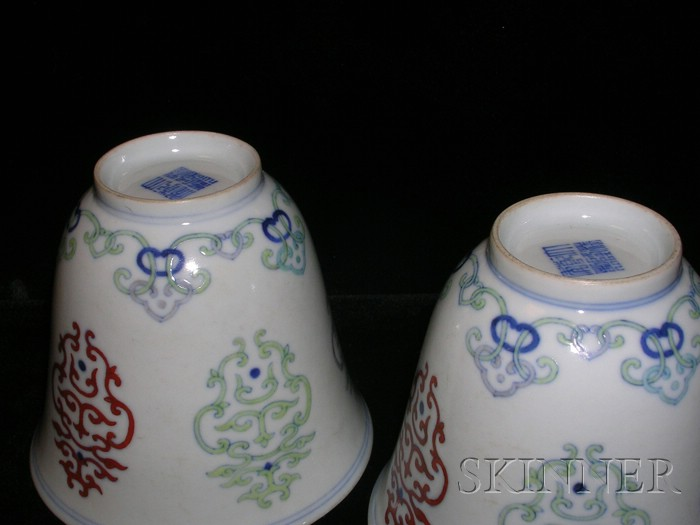 Pair of Doucai Cups