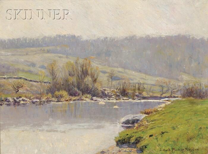 Edward Parker Hayden (American, 1858-1922)      River in Spring