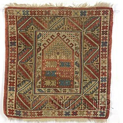 Southwest Anatolian Village Prayer Rug,